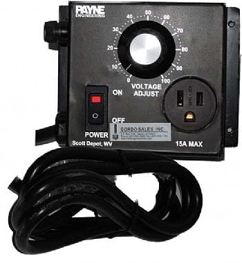 240VAC 15 amp solid state variac by Payne - 18TP-2-15
