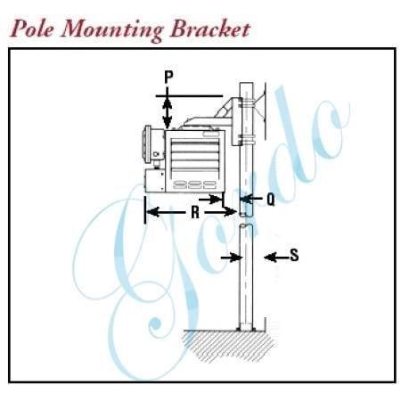 CXH-A-PMB-12 Pole Mount Kit