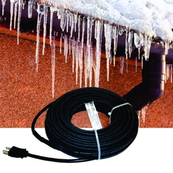 120V 50 foot pre-assembled self regulating roof and gutter heat cable kit by Briskheat - FFRG15-50