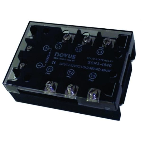 480V 3PH 40 Amp solid state relay, 4-32VDC input by Novus-SSR3-4840