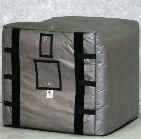 275 gallon tote or four 55 gallon drums, PalletQuilt insulation only blanket by Q Products and Services - PalletQuilt 275