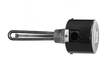 "120V 1200W 1 1/4"" NPT brass fitting 2 copper elements 6 1/8"" immersion length by Gordo - GI-2-0014-M1"