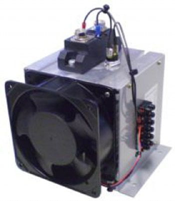 200 amp @ 480VAC (max) single pole solid state relay, 4-32VDC input with heat sink and fan by Novus - SSR-1P-200A-480V-NDP3
